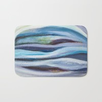Cool Tranquil Dream Abstract Painting Bath Mat by mariameesterart