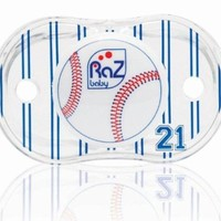 RaZbaby Keep-It-Kleen Pacifier, Baseball, 0-36 Months (Discontinued by Manufacturer)