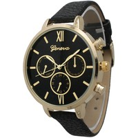 Olivia Pratt Women's Vintage-style Pebbled Leather and Stainless Steel Petite Watch | Overstock.com Shopping - The Best Deals on More Brands Women's Watches