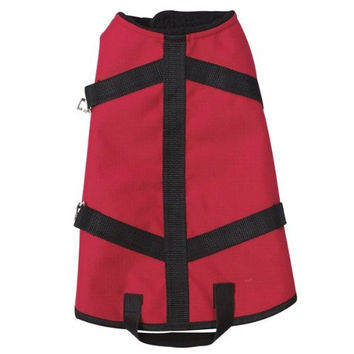 Casual Canine Polyester Ripstop Blanket Dog Coat, X-Small, 10-Inch,Red