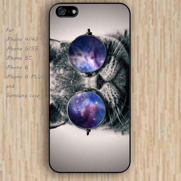 iPhone 6 case cat case Nebula glasses iphone case,ipod case,samsung galaxy case available plastic rubber case waterproof B142