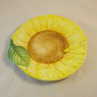 Sunflower China Plate Italy