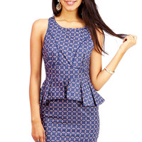Cornflower Peplum Dress