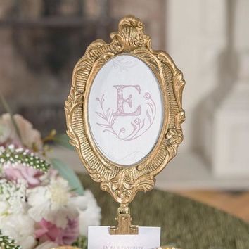 Oval Baroque Standing Frame - Gold (Pack of 1)
