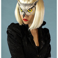 Owl Mask by Carousel Ink - Victorian Paper MASK - OWL