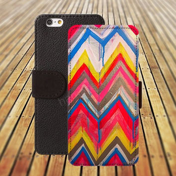 iphone 5 5s case dream watercolor Chevron iphone 4/ 4s iPhone 6 6 Plus iphone 5C Wallet Case,iPhone 5 Case,Cover,Cases colorful pattern L146