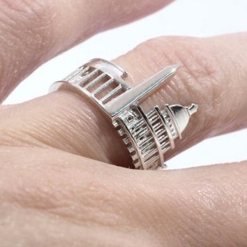 Washington, D.C. Cityscape Statement Ring