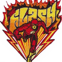 The Flash Iron-On Patch Flames Logo