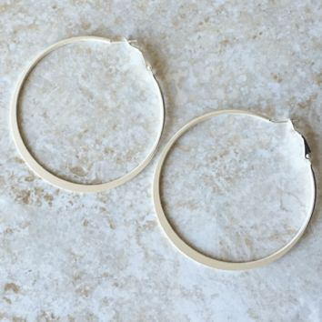Kixters - Silvertone Hoop Earrings