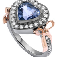 Theo Fennell - Lilac Spinel & Diamond Bow Tryst Ring