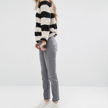 Lee Stripe Knit Sweater at asos.com