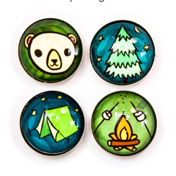 Camping Magnets by Susie Ghahremani / boygirlparty.com - Camp Magnets