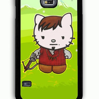 Samsung Galaxy S5 Case - Hard (PC) Cover with Daryl Dixon Hello Kitty The Walking Dead Plastic Case Design