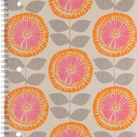 Mead Pretty Please Notebook, 10-1/2 x 8-Inches, 1-Subject, 80CT, CR, Row Flowers (72010)