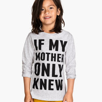 Long-sleeved T-shirt - from H&M