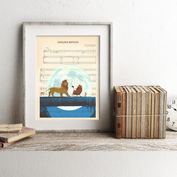 The Lion King Hakuna Matata Sheet Music Art Print
