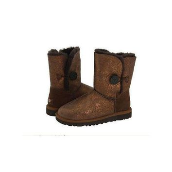 Ugg Boots Sale Bailey Button Fancy 5809 Brown For Women 108 90