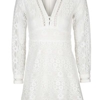 Lace Mini Dress - Dresses - Clothing