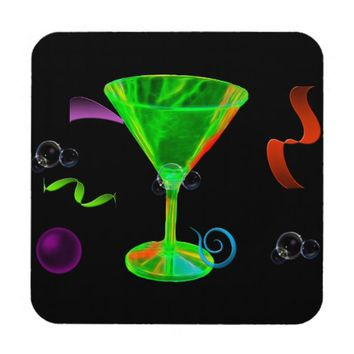 Party, black background coaster's drink coaster