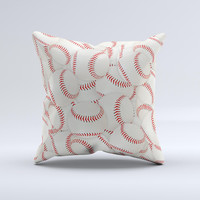 Baseball Overlay Ink-Fuzed Decorative Throw Pillow