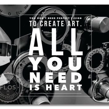 11x14 Print Wall Art Artist Motivation Quote Wall Decor Signed Photography Poetry Heart Vision
