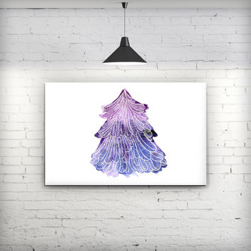 Stenciled Watercolor Evergreen Tree - Fine-Art Wall Canvas Prints