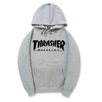 DCCKJ1A Trendy THRASHER Printed Unisex Round Neck Sweaters Hoodies