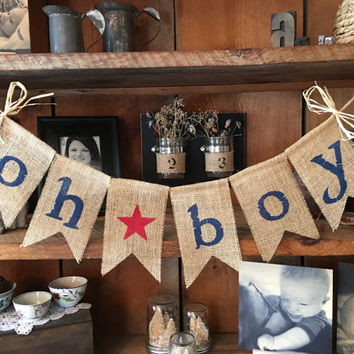 Baby Boy Bunting, Burlap Baby Bunting, Baby Shower Decoration, Baby  Bunting, Pregnancy