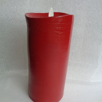 """Luminara 9"""" Red Flameless Candle with Remote"""