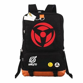 Japanese Anime Bag  Naruto Write Round eyes Backpack Mochilas Teenagers Men Women's Student School Bags travel Laptop Bag Casual Backpacks AT_59_4