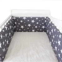 Collapsible 180*30cm Star Design Baby Bed Bumper Cotton Baby Crib Protection Pad Multicolor Cot Bumpers In Crib For Newborns