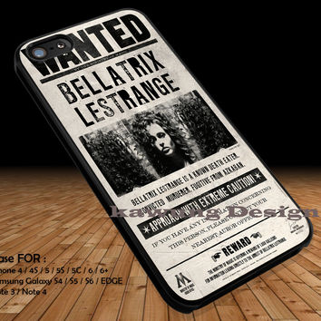 Bellatrix Lestrange Wanted Poster iPhone 6s 6 6s+ 5c 5s Cases Samsung Galaxy s5 s6 Edge+ NOTE 5 4 3 #movie #HarryPotter DOP2120