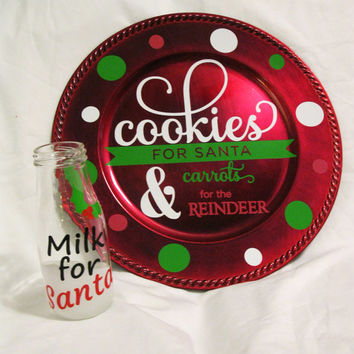 Cookies for Santa Plate* Cookies & Milk for Santa Set* Milk for Santa Bottle
