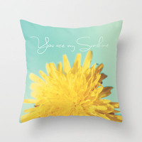 You are my Sunshine Throw Pillow by Beth - Paper Angels Photography | Society6