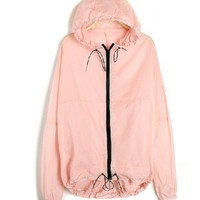Translucent iridescent hooded long-sleeved Lycras
