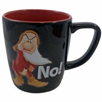 disney parks 3d grumpy personality no! ceramic coffee mug new