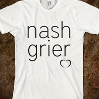 NASH GRIER (BLACK ON WHITE, SMALL HEART)