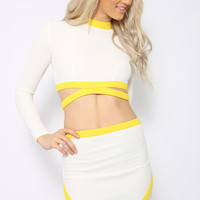 Cherysse Crop - White