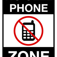 "No Cell Phone Zone Parking Sign, 12""w x 18""h, Full Color"
