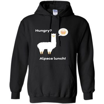 Funny Hungry? Alpaca lunch T-Shirt for Alpaca or Llama lover