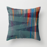 Caitlins  Throw Pillow by Robin Maria Pedrero