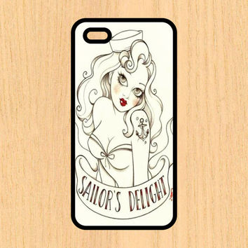 Sailor's Delight Nautical Pin Up Print Cell Phone Case iPhone 4/4s 5/5c 6/6+ Case and Samsung Galaxy S3/S4/S5