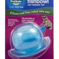 Cat Fishbowl Feeder Toy