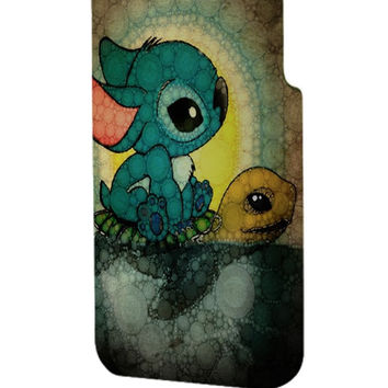 Best 3D Full Wrap Phone Case - Hard (PC) Cover with Stich and Turtle Design