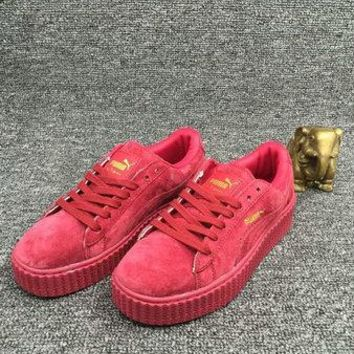 Rihanna x PUMA Suede Fenty Creepers Collection 362223 01 red gum