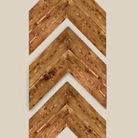 Set of 3 Large Wood Chevron Arrows. Wood Arrows Wall Art. Chevron Home Decor.