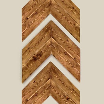 Set Of 3 Large Wood Chevron Arrows Wall Art Home Decor