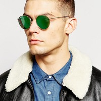 Ray-Ban Round Polarised Sunglasses RB3447 at asos.com