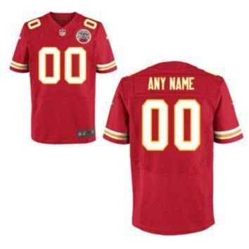PEAPYD9 Nike Kansas City Chiefs Customized Red Stitched Elite Men's NFL Jersey