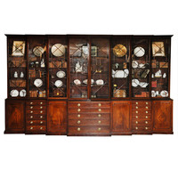 1STDIBS.COM - Richard Norton Inc. - Fine Mahogany Triple Breakfront Stepback Bureau Bookcase